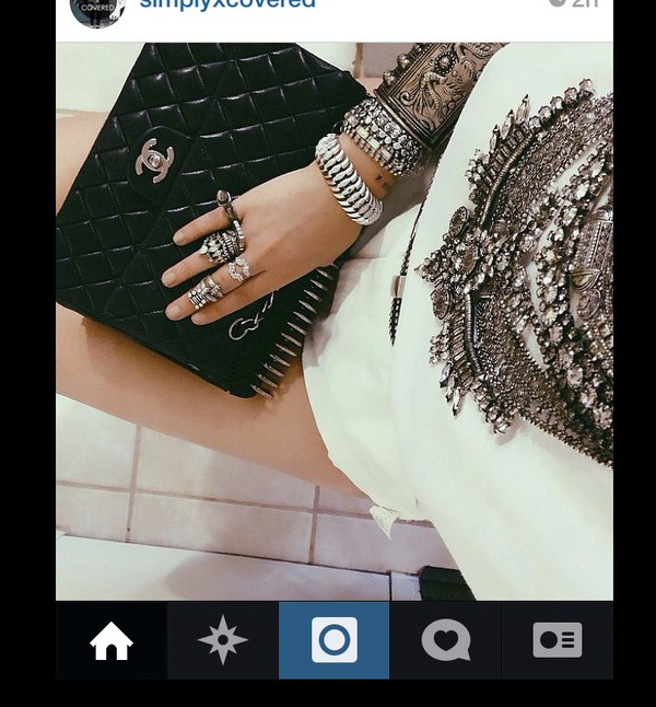 jewels ring bracelets necklace crystal