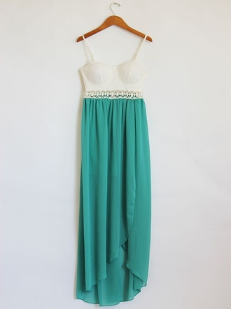 dress maxi dress clothes aqua blue