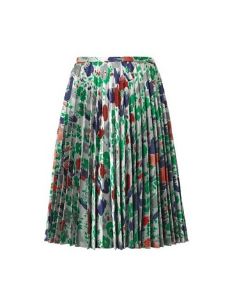 skirt pleated jacquard silver