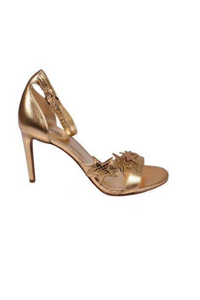 Michael Kors pale gold shoes