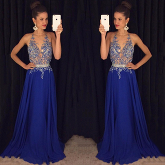 dress prom blue navy floral lace maxy trendy wow cute amazing fashion girly prom dress bridesmaid tulle dress