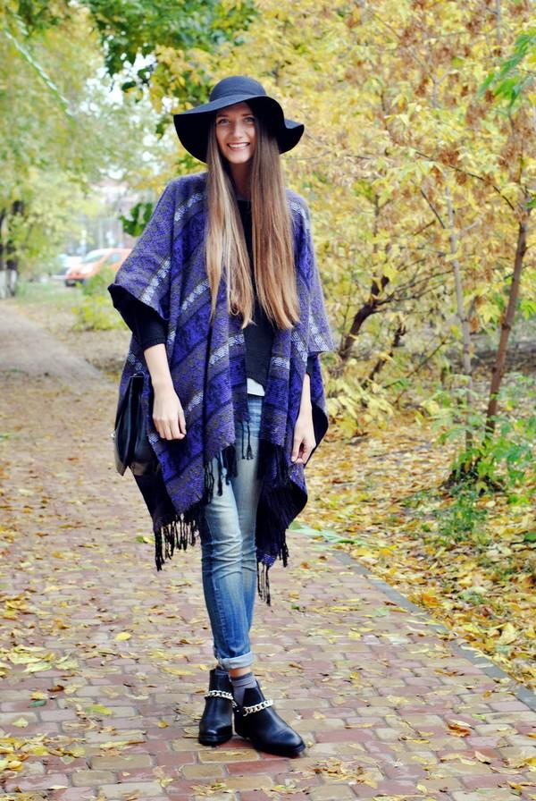 yuliasi blogger jeans bag felt hat folk