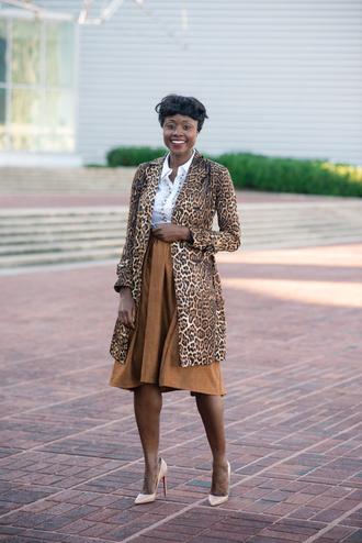 skinny hipster blogger midi skirt leopard print