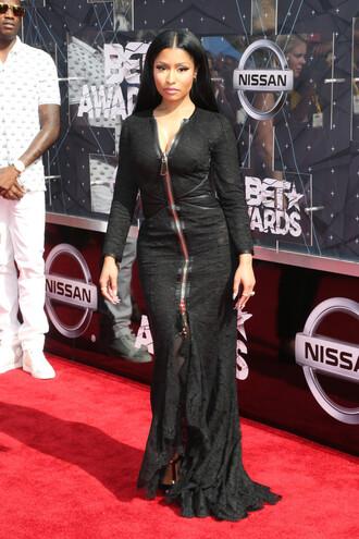 dress gown maxi dress nicki minaj black dress bet awards