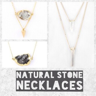 jewels jewel cult necklace druzy stone spike druzy druzy necklace natural stone druzy pendant