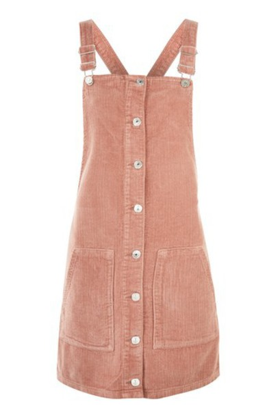 dress pinafore dress pink