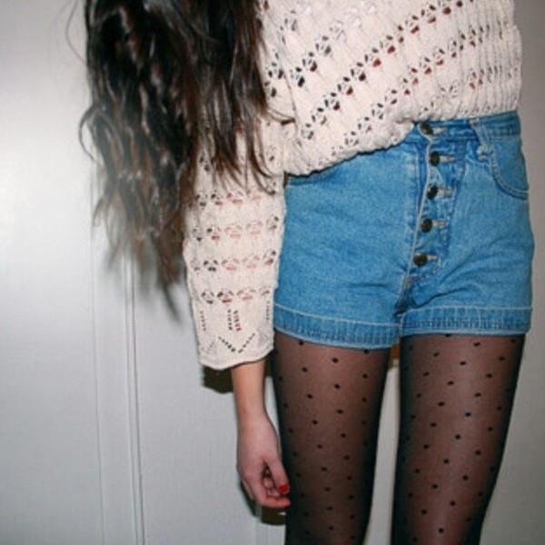 shorts high waisted denim shorts High waisted shorts jeans high waisted blue shorts sweater underwear