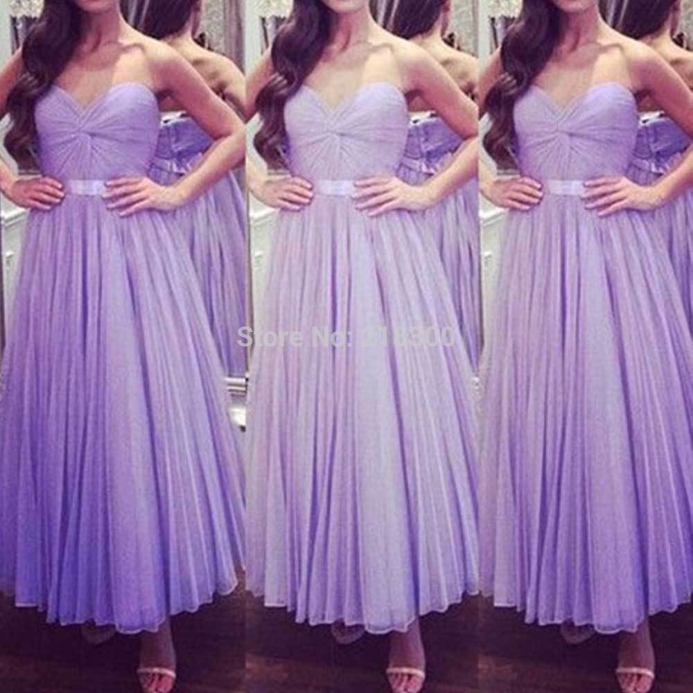 Aliexpress.com : Buy Lavender ball gown prom dresses ankle length ...