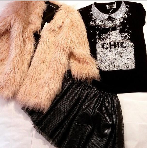 t-shirt black t-shirt style skirt