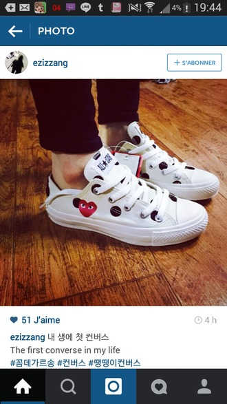 shoes comme des garcons japan converse all star black and white dots