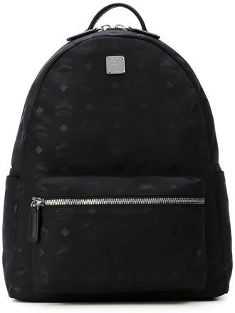 women backpack leather black bag