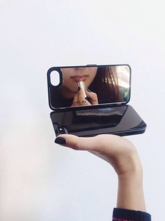 phone cover phone mirror iphone black