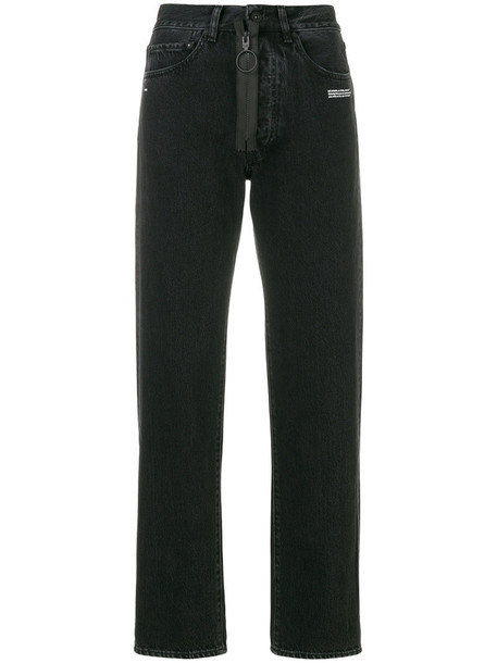 Off-White jeans vintage jeans vintage women cotton black