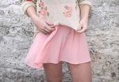 skirt,summer,pink,boho,free