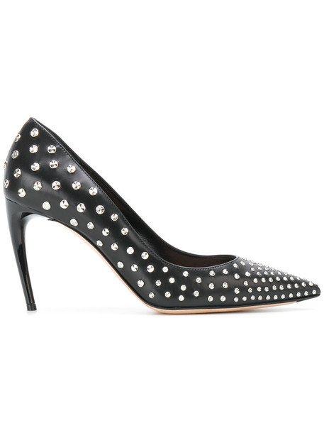 Alexander Mcqueen women pumps leather black shoes