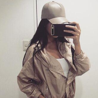 jacket nude adidas windbreaker