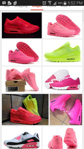 neon pink nikes,neon yellow nikes,air max,sneakers,fluorescent #airmax #hyperfuse,shoes,women
