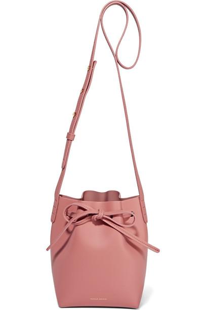Mansur Gavriel Mansur Gavriel Mini Mini Leather Bucket Bag in rose