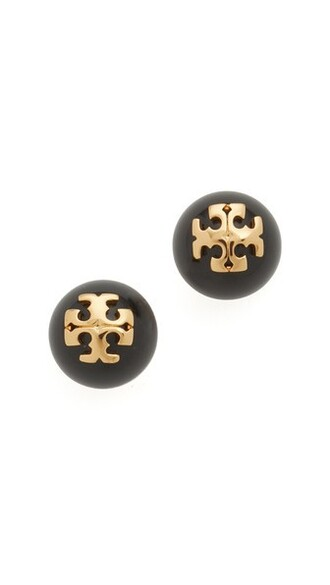 shiny earrings stud earrings gold black jewels