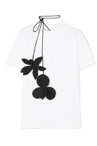 MARNI t-shirt shirt t-shirt white cotton top