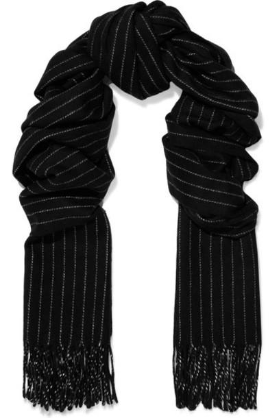 Rag & Bone scarf black wool