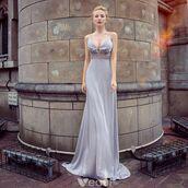 dress,long dress,sexy dress,girl,grey dress,evening dress,formal dress,spaghetti straps dress,backless dress