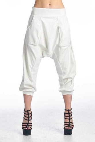 pants white joggers white white pants joggers leather pants mesh mesh panel mesh pants
