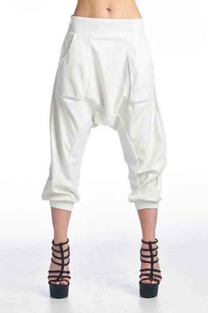 pants white joggers white white pants joggers leather pants mesh mesh panel mesh pants