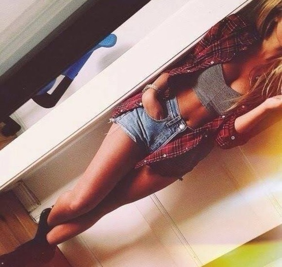 denim shirt jacket crop tops crop tank heather gray jean shorts flannel shirt