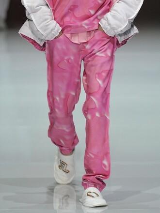 pants julian zigerli zigerli plastic pink pink pink pants menswear