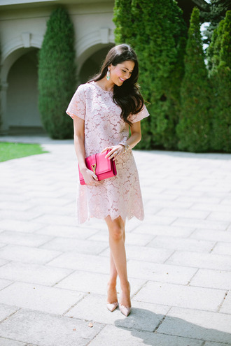 bag pink bag dress shoes jewels