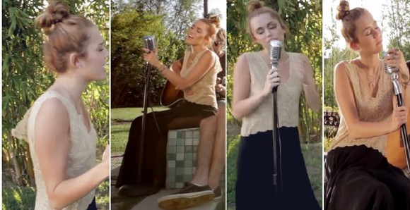 miley cyrus beige backyard session country country style swing crochet crochet maxi dress maxi dress