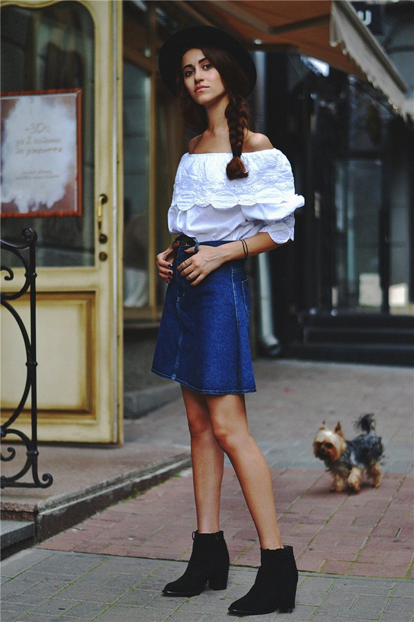 tina sizonova blouse skirt shoes