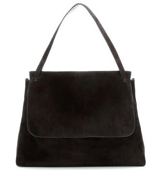 bag shoulder bag suede black