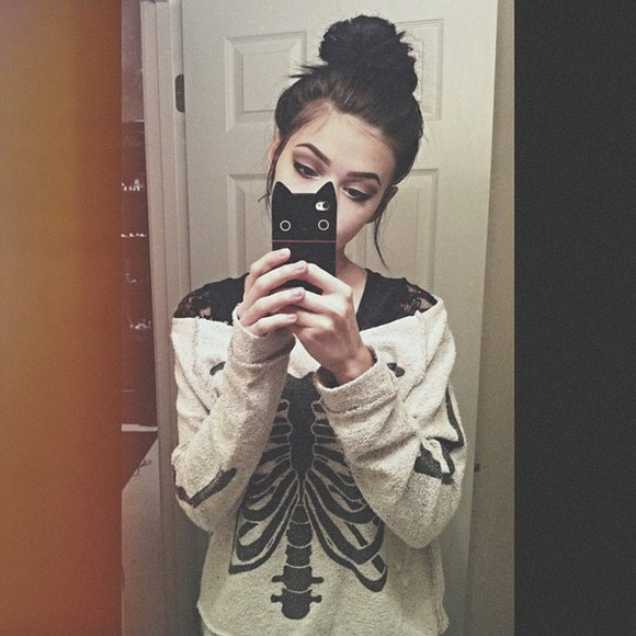 bones bones sweater phone case