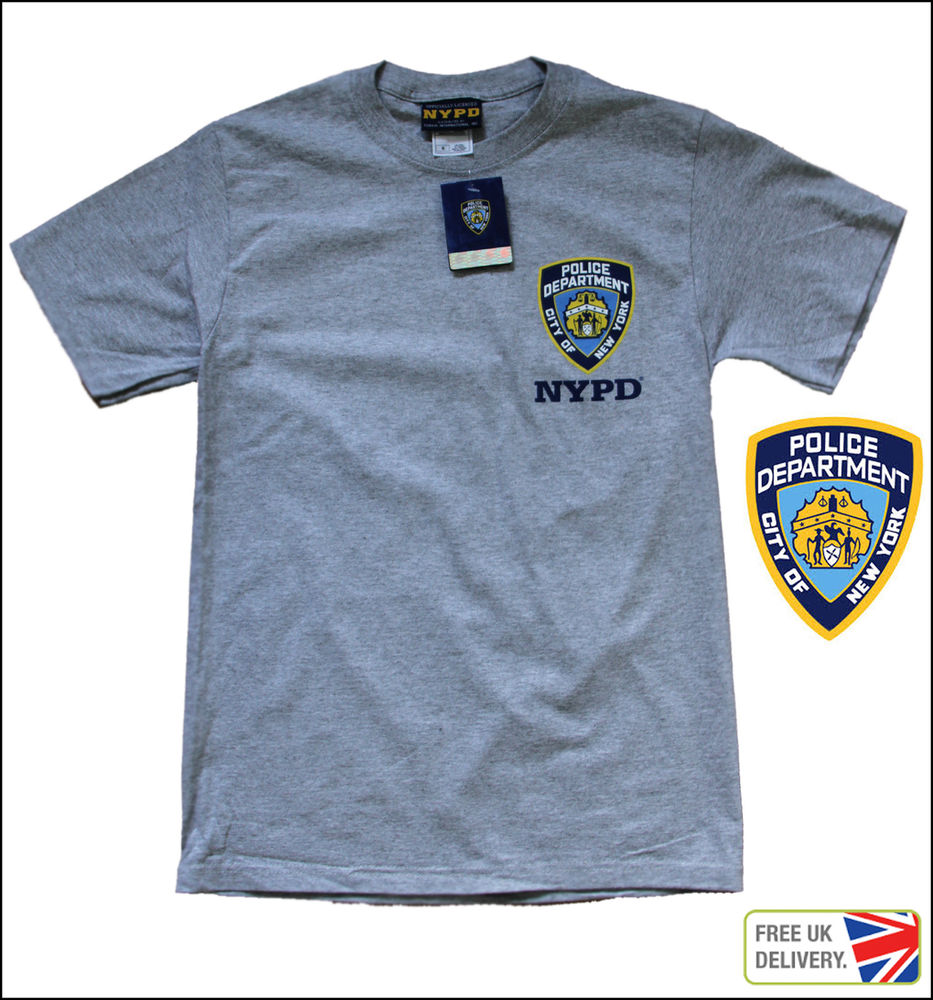 683b2529 UK SELLER BRAND NEW YORK CITY LICENSED NYPD GREY T SHIRT POLICE CAP  DEPARTMENT