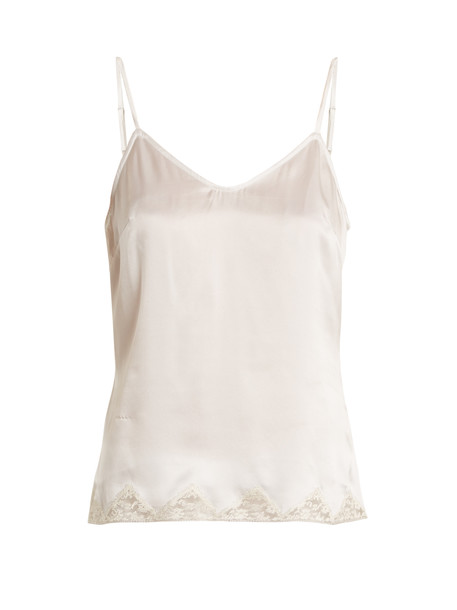 MORGAN LANE top lace silk cream