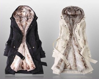 coat jacket fur fashion style cute white black alternative grunge goth goth hipster hipster pastel goth