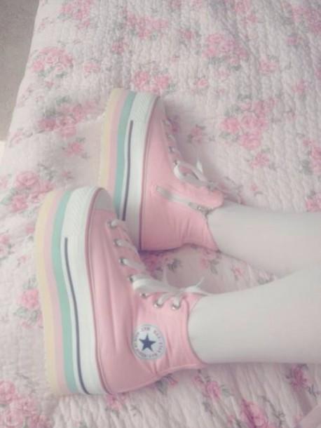 ddbc7d6371 shoes kawaii japan girl pastel goth japanese pastel sneakers fairy kei harajuku  lolita converse platform shoes