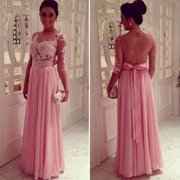 dress pink dress lace dress long prom dress blouse pink