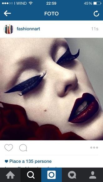 make-up burgundy oxblood red ombre lips lip lips lipstick lip liner dark dark lipstick beautiful face