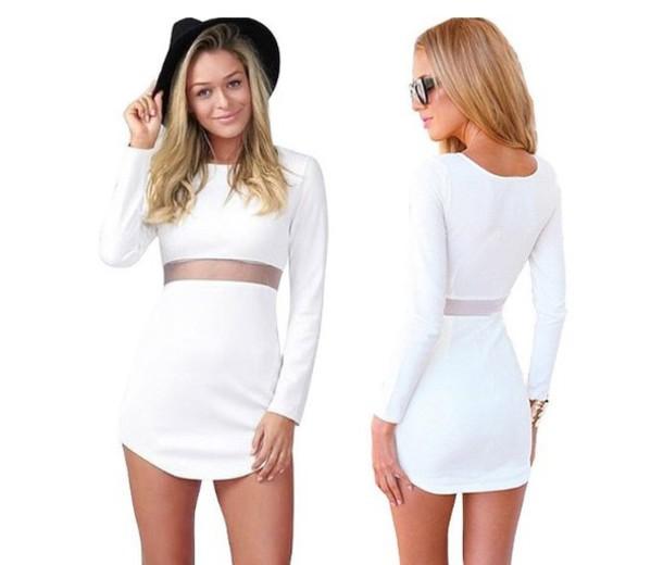 dress little white dress bodycon dress