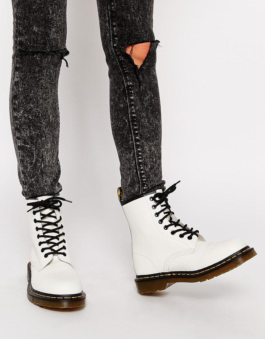 Martens Modern Classics White Smooth 1460 8-Eye Boots at asos.com