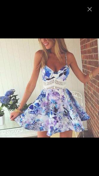 dress floral dress lace dress blue dress pink dress white dress see through spaghetti strap