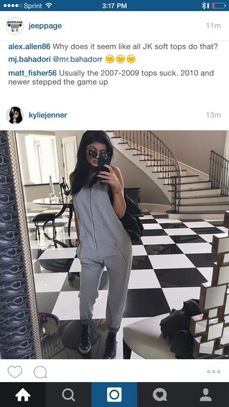 romper kylie jenner grey jumpsuit kylie jenner exact jumpsuit kylie jenner grey jumpsuitt zip kardashians gray romper grey jumpsuit