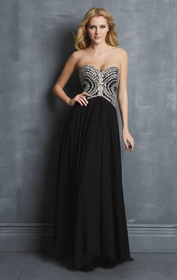 black dress brand dress chiffon dress prom dress 2014 dress party dress beaded dress 2014 dress hot dress