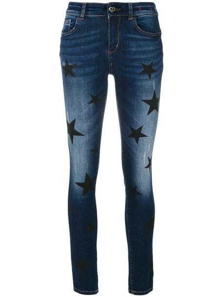 Twin-Set jeans women spandex cotton blue