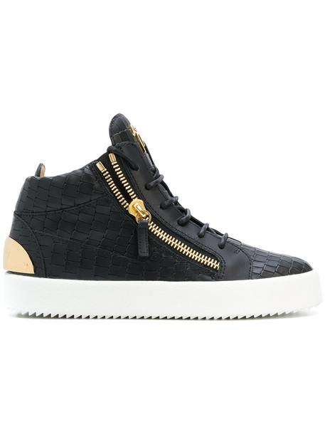 women sneakers leather black crocodile shoes