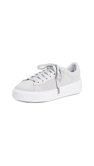 sneakers silver grey violet shoes