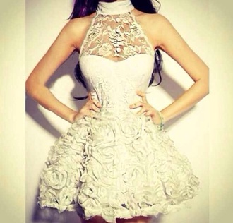 dress floral dress needtohave pretty cream dressy clubwear formal dress material celebrity style celebrity  fashion